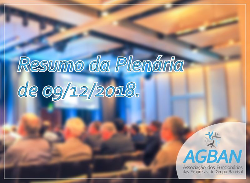 Resumo da Plenária de 09/12/2018