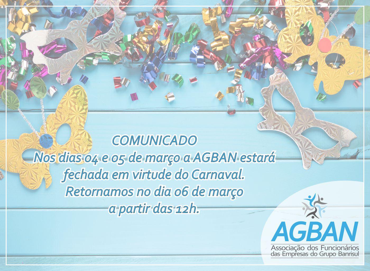 Comunicado sobre o feriado de Carnaval