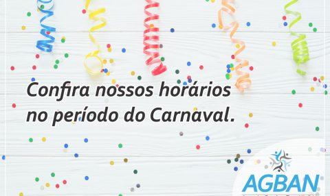 Nossos horários no período do Carnaval.